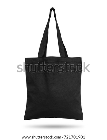 black fabric bag isolated on...