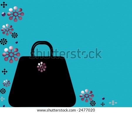 black fashion purse border design