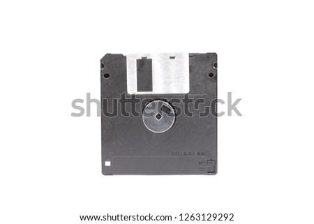 Black Floppy disk or diskette isolated on white background