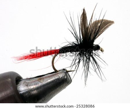 Black fly fishing lure