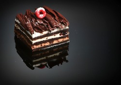 Black Forest cocoa gourmet cake