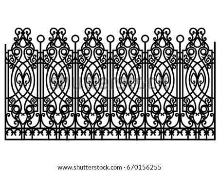 black forged modular fence...