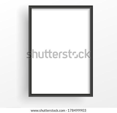 Black frame on the white wall