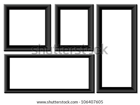 Black frames - stock photo