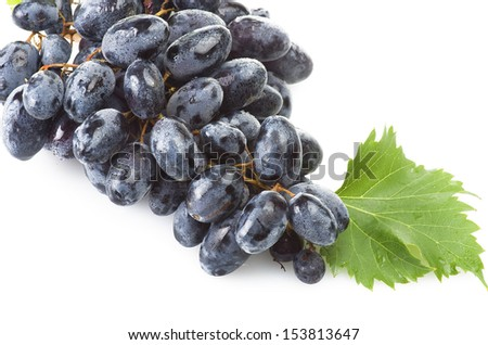 Black freshness grape on the white background #153813647