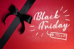Black friday mockup with chalk effect Premium Psd
