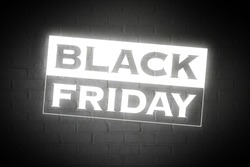 BLACK FRIDAY on white wall