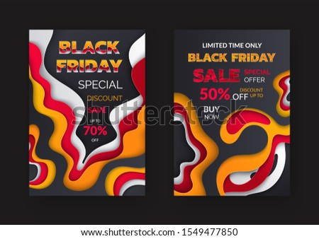 Black Friday sale, special discount 70 percent off, promo poster with 3D effects. Best offer, flyer info about price reduction, final discounts raster