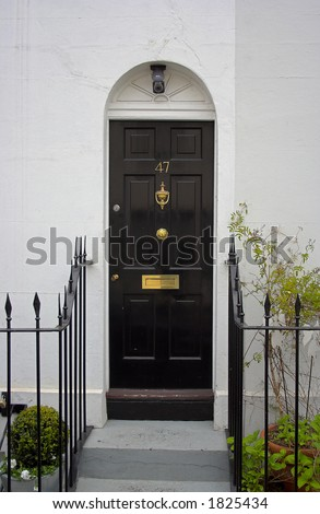Black Front Door on Black Front Door Stock Photo 1825434   Shutterstock