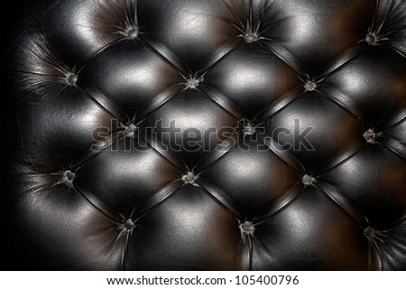 black genuine leather upholstery