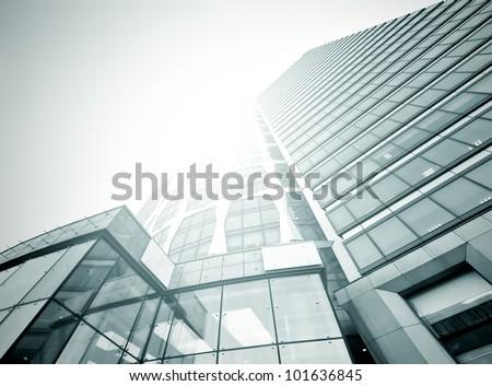 Black glass texture of nigh skyscraper in business center