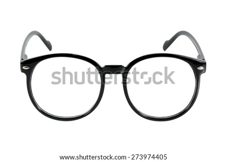 black glasses, isolated on white background #273974405