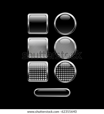 Black glossy web buttons.