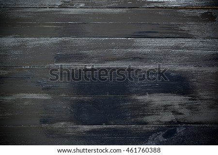 Black glossy wooden planks table - background or texture #461760388