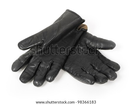Black gloves isolated on white