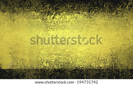 black gold background, yellow striped grunge texture center with black borders, shiny gold smeared paint rectangle web backdrop, abstract gold and black background