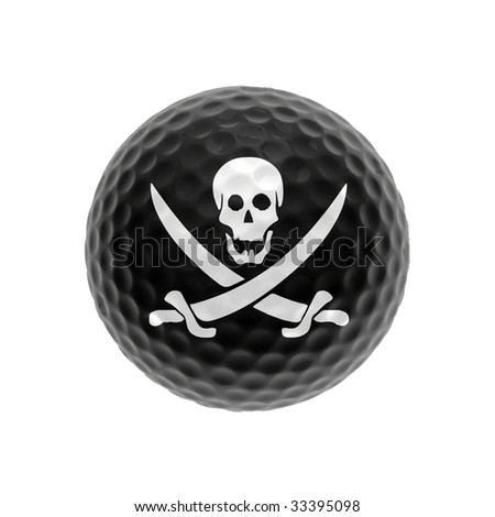 Golf Ball Logo Black Black Golf Ball With