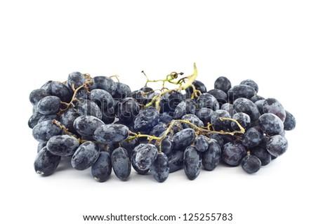 Black grape isolated.