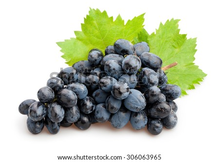 black grapes isolated