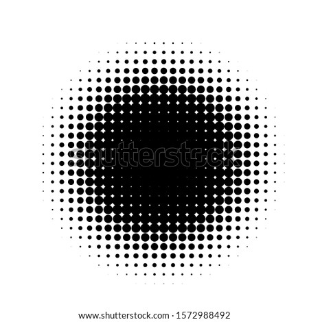 Black Graphic Dots Halftone. Dots Vector. Halftone Abstract Background. Comic Dotted Pattern. Design Element Spot Background. Dots pattern. Gradient Dot Halftone. Dots Grunge.