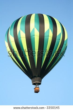 Black & Green Striped Hot Air Balloon