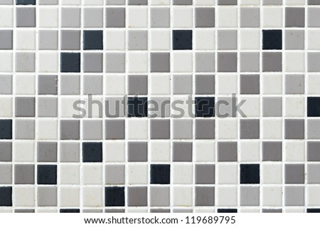 Black, grey, cream mosaic tile background