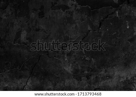 Black grunge background. Old wall texture. Blackboard. Dak wallpaper, Concrete surface Stockfoto ©