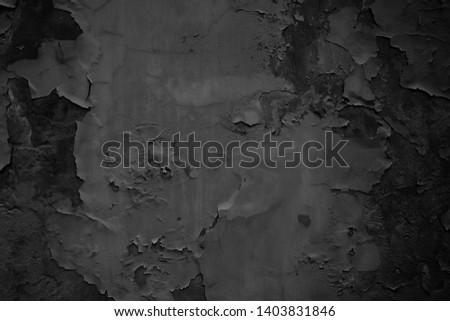 Black grunge background. Old wallpaper