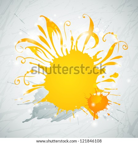 Black Grunge Blob, Isolated On White Background