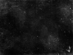 Black grunge scratched scary background, old distressed wall