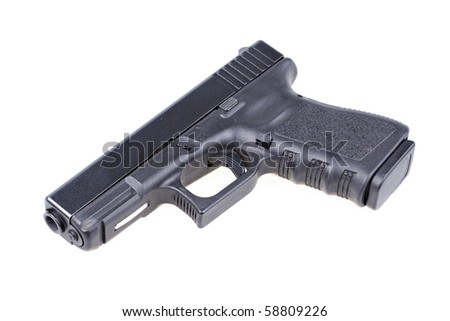 Black gun isolated on white
