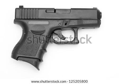 Black gun isolated on white background