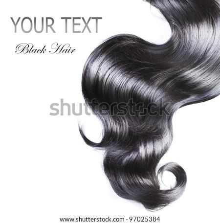 Black Hair over white - stock photo