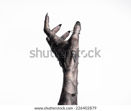 black hand of death the walking dead zombie theme halloween theme zombie hands white background isolated hand of death mummy hands the hands of the devil black nails hands monster