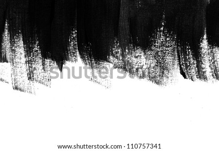Black hand painted brush strokes background