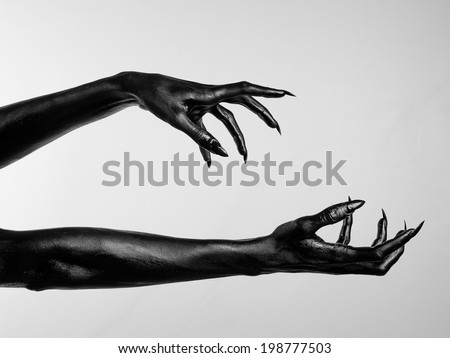 Black hands of death