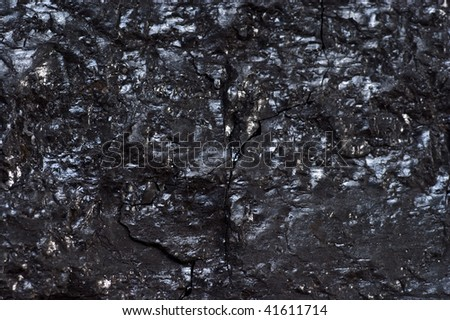 Black hard bituminous coal, carbon nugget background