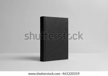Black Hardcover Book Mock-Up - Wall Background #461220319