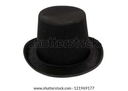 Black hat on white background