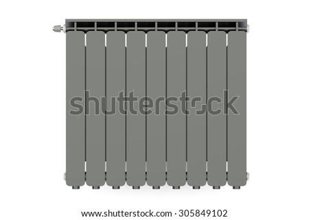 black heating radiator isolated on white background #305849102