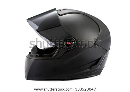 Black helmet Isolated on white background #333523049
