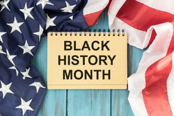 Black History Month African-American History Month background design for celebration and recognition in the month of February.