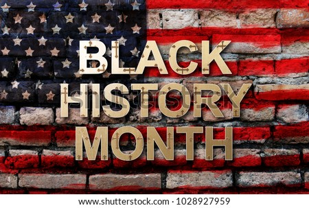 Black History Month (African-American History Month ) background design for celebration and recognition in the month of February. #1028927959