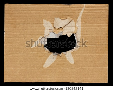 black hole in a cardboard background