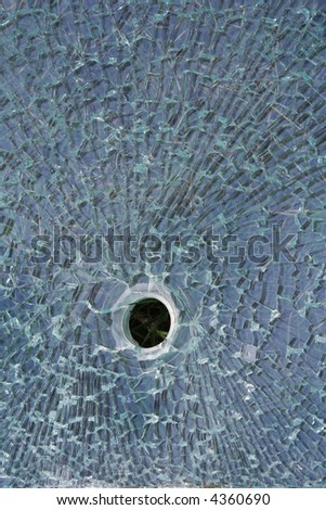 Black hole in glass