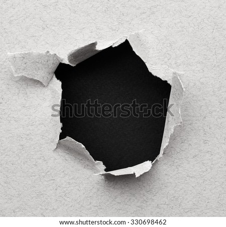 Black hole in paper. Abstract background
