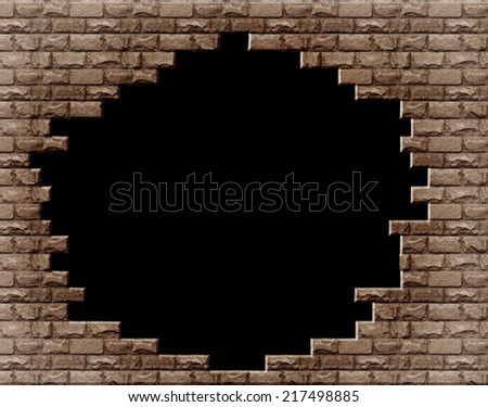 Black hole in the brick wall