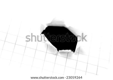Black hole on squared blank