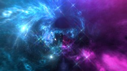 black hole, Planets and galaxy, science fiction wallpaper. Beauty of deep space. Billions of galaxy in the universe Cosmic art background