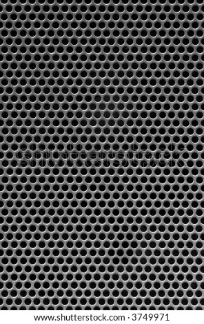 black holes in a metal grill